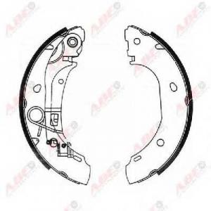 ABE C0F025ABE Гальмівні колодки, барабанні