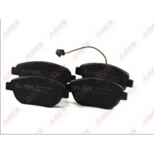 ABE C1F037ABE Комплект тормозных колодок, дисковый тормоз Фиат