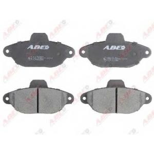 ABE C1F062ABE Комплект тормозных колодок, дисковый тормоз Фиат 500