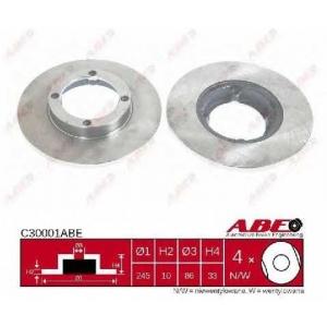 ABE C30001ABE Тормозной диск Дэу Тико