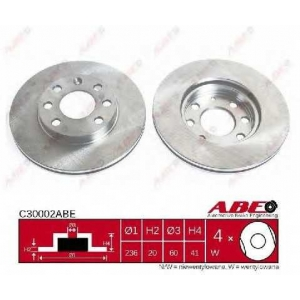 ABE C30002ABE Тормозной диск Опель Аскона