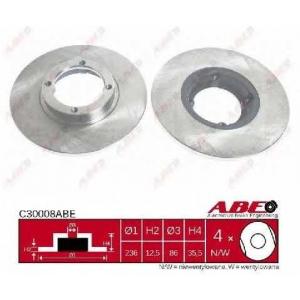ABE C30008ABE Тормозной диск Дэу Матиз