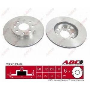 ABE C30012ABE Тормозной диск Дэу Калос