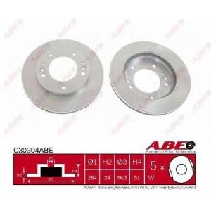 ABE C30304ABE Тормозной диск Киа Спортейдж