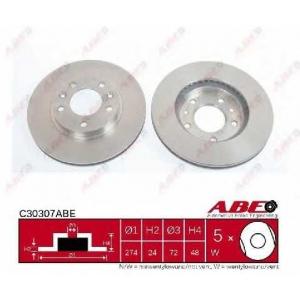ABE C30307ABE Тормозной диск Киа Карнивал