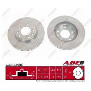 ABE C30313ABE Тормозной диск Киа Карнивал
