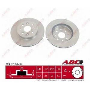ABE C30316ABE Тормозной диск Киа Рио