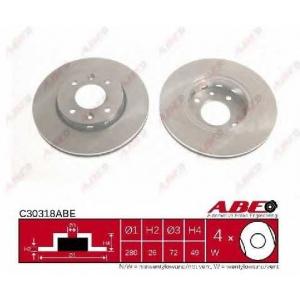 ABE C30318ABE Тормозной диск Киа Каренс
