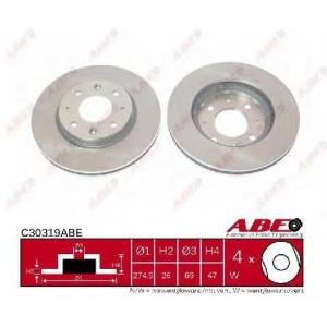 ABE C30319ABE Тормозной диск Киа Спектра