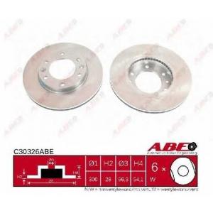 ABE C30326ABE Тормозной диск Киа