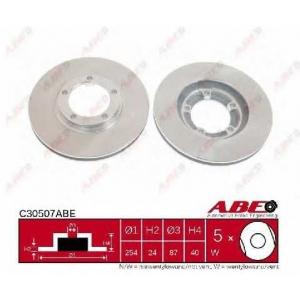 ABE C30507ABE Тормозной диск Митсубиси Л 400