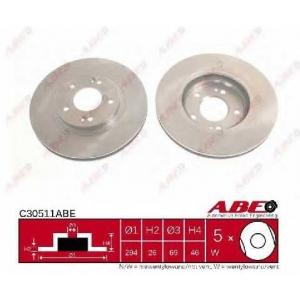 ABE C30511ABE Тормозной диск Хюндай Санта Фэ