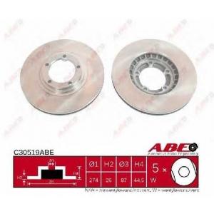 ABE C30519ABE Тормозной диск Хюндай Н1