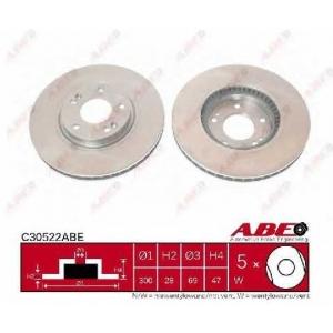 ABE C30522ABE Тормозной диск Киа Спортейдж