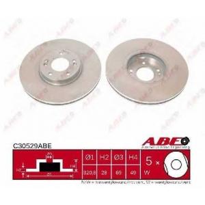 ABE C30529ABE Тормозной диск Хюндай Санта Фэ