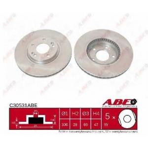 ABE C30531ABE Тормозной диск Хюндай Ай 30