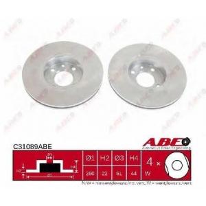ABE C31089ABE Тормозной диск Дача Логан Експрес