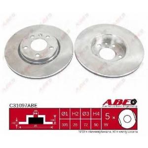 ABE C31097ABE Тормозной диск передний Trafic/Vivaro 305x28x5