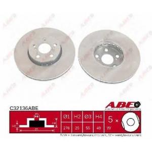 Тормозной диск c32136abe abe - TOYOTA AVENSIS (_T22_) седан 2.0 TD (CT220_)