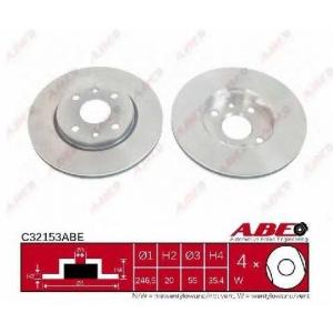ABE C32153ABE Тормозной диск Ситроен С1