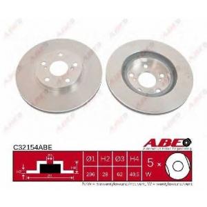 Тормозной диск c32154abe abe - TOYOTA RAV 4 III (ACA3_, ACE_, ALA3_, GSA3_, ZSA3_) вездеход закрытый 2.4 VVTi 4WD