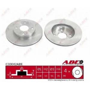 ABE C33042ABE Тормозной диск Мазда 121