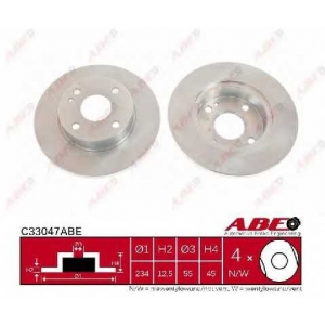 ABE C33047ABE Тормозной диск Мазда 121