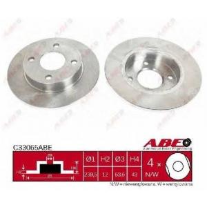 ABE C33065ABE Тормозной диск Мазда 121
