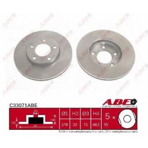 ABE C33071ABE Тормозной диск Мазда 3