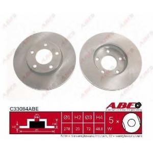 ABE C33084ABE Тормозной диск Мазда 3
