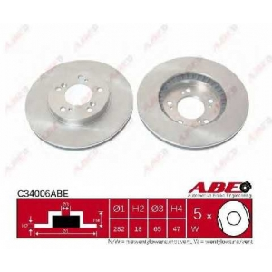 ABE C34006ABE Тормозной диск Хонда Црв