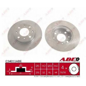 ABE C34011ABE Тормозной диск Хонда Црх