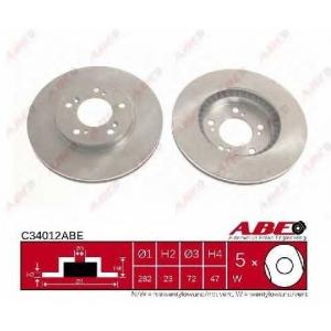 ABE C34012ABE Гальмівний диск