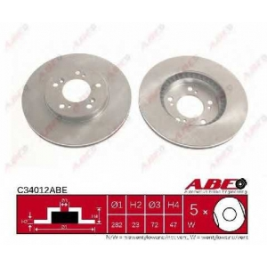 ABE C34012ABE Тормозной диск Хонда Црв