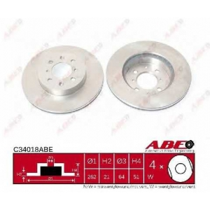 ABE C34018ABE Тормозной диск