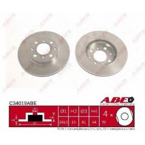 ABE C34019ABE Тормозной диск Хонда Црх