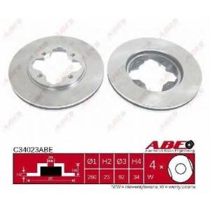 ABE C34023ABE Тормозной диск Хонда Акорд