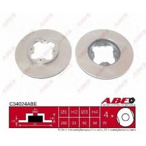 ABE C34024ABE Тормозной диск Хонда Акорд