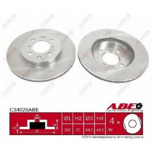 ABE C34026ABE Тормозной диск Акура