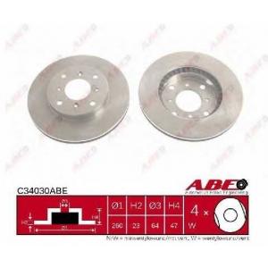 ABE C34030ABE Тормозной диск Хонда Прелюд