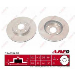 ABE C34035ABE Тормозной диск Хонда Прелюд