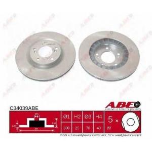 ABE C34039ABE Тормозной диск Хонда С2000