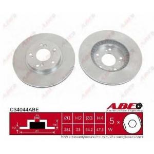 ABE C34044ABE Тормозной диск Хонда Црв