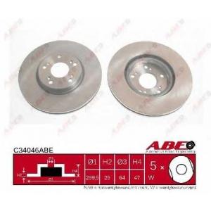 ABE C34046ABE Тормозной диск Хонда Црв