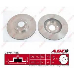 ABE C34047ABE Тормозной диск Хонда Црв