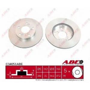 ABE C34051ABE Тормозной диск Хонда Црз