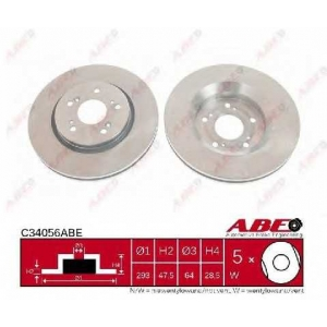 ABE C34056ABE Тормозной диск Хонда Црв
