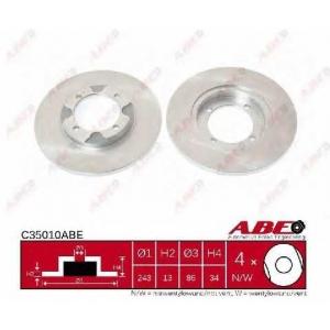 ABE C35010ABE Тормозной диск Митсубиси Кольт
