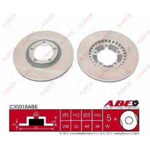 ABE C35018ABE Тормозной диск Митсубиси Л 200