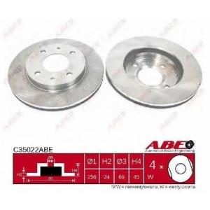 ABE C35022ABE Тормозной диск Митсубиси Карисма